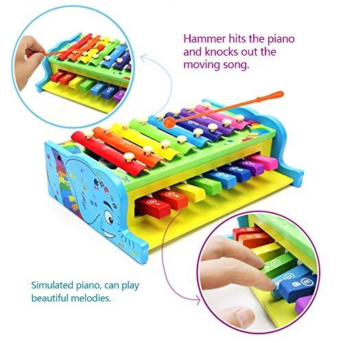 Rclhh Xylophone 8-Notes Clavier Instrument de Musique en Bois 2 en 1 frappant Xylophone Instruments pour la Petite enfance Img 3 Zoom