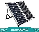 SolarXXL 60W Watt 12V Volt Solarkoffer Monokristallin Mobile Solaranlage 2 Solarmodule - Solarpanel ideal für Camping