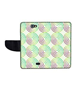 KolorEdge Printed Flip Cover For Gionee Pioneer P2 Multicolor -(43KeMLogo12229GioneeP2)