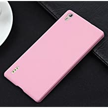 "Prevoa ® 丨Original Colorful Hard Plastic Cover Funda Para Huawei Ascend P7 smartphone 5.0"" Smartphone - Rosa"