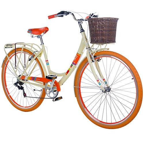 28 Zoll Chill Damenrad Citybike Fahrrad Hollandrad Damenfahrrad 6 Gang, Farbe:beige, Rahmengrösse:19 Zoll