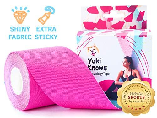 YukiKnows® Kinesiologie Tape EXTREME - Extra Klebrig Wasserdicht | Physiotherapie Muskelunterstützung für SPORT | Schwangerschaft und Orthopädische Rehabilitation | Hypoallergen | 5cm x 5m Rollen