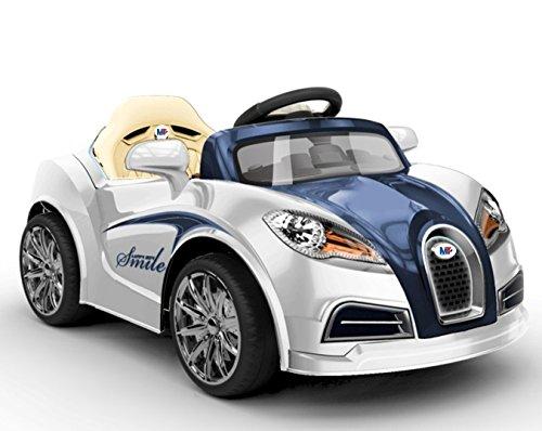 Mondial Toys AUTO ELETTRICA PER BAMBINI 12V MACCHINA CON TELECOMANDO LUCI A LED MP3 BLU E BIANCO