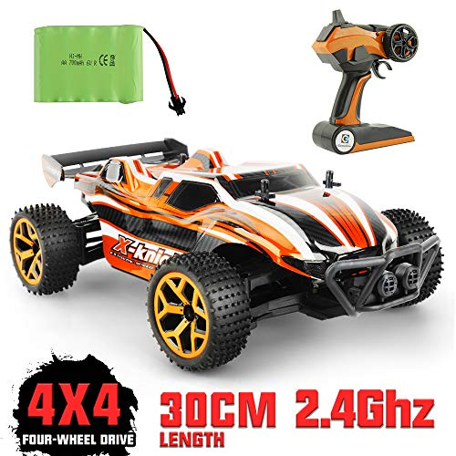 GizmoVine Coche RC 2.4 GHz 1:18 Radiocontrol Teledirigido Camión de Juguete 4WD para niños