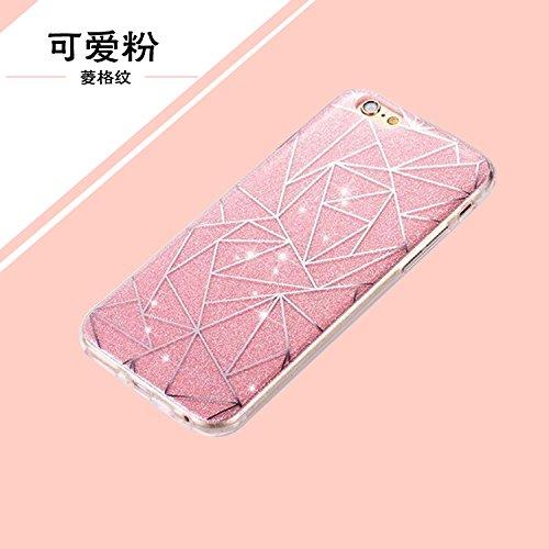 """iPhone 6s Schutzhülle, iPhone 6 Case Twinkler Series CLTPY Klar Dünne Weiche Silikon Gel-Abdeckung Etui mit Durchsichtig Muster für 4.7"""" Apple iPhone 6/6s + 1 x Schreibgerät - Goldlinie Rosa Dreieck"""