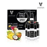 VAPOURSSON 5 X 10 ml E Mélange Tropical Cocktail | Noix de coco | Mango | l'ananas |...