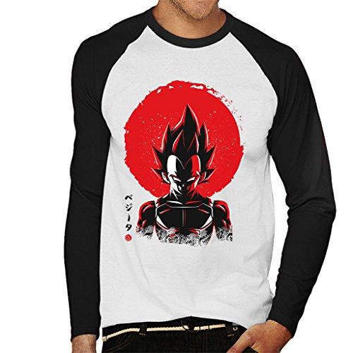 Vegeta Sun Poster Dragon Ball Z Men's Baseball Long Sleeved T-Shirt