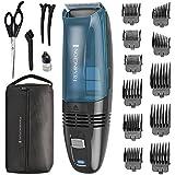 Remington Hc6550 Cordless Vacuum Haircut Kit, Black/Blue
