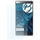 Bruni Schutzfolie kompatibel mit Lenovo Phab 2 Plus Folie, glasklare Bildschirmschutzfolie (2X)