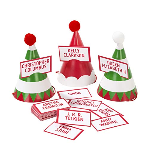 Talking Tables Christmas Entertainment Mini Party Hats & Game Pk6 (International Content)