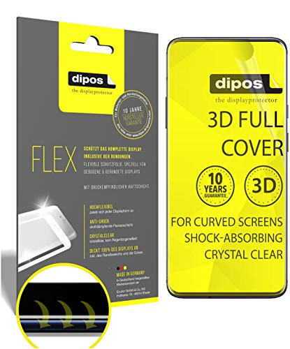 dipos I 3X Schutzfolie 100% passend für OnePlus 7 Pro Folie I 3D Full Cover Displayschutzfolie
