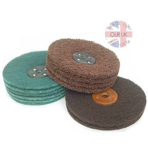 Schleifmittel Nylon Reifen kit für ein Matt (Satin) Auf beenden metall für motorrad oder auto restaurierung