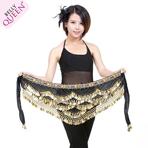 Bellyqueen 328 Währung Diamond bauchtanz - Gürtel im indischen Tanz kostüm - Gürtel Stück Paket (Schmuck Kostüme Tanz Indischer)