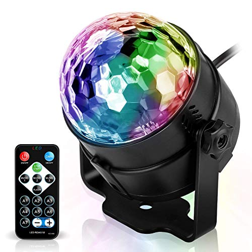 Stage Lighting Effect Disco Ball Party Night Lights 6 Colors Music Sound Activated Rotating Magic Led Strobe Lamp Stage Light For Christmas Birthday Delicacies Loved By All