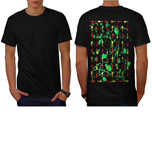 mehrere-ameise-drucken-insekt-welt-herren-neu-schwarz-xl-t-shirt-zurck-wellcoda
