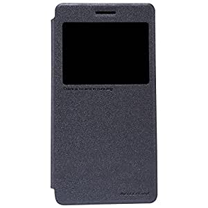 Nillkin Sparkle Series Window Leather Flip Case Cover for Lenovo A7000 /K3 note - Black