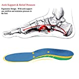 Orthotics Shoe Insoles for Flat Feet with Arch Support - Against Plantar Fasciitis Relieve Foot Pain, Heel Pain - Sports Shock Absorption Shoe Insoles for Men and Women