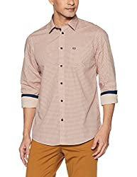 Arrow Sports Mens Plain Regular Fit Cotton Casual Shirt (8907538731067_Beige_40)