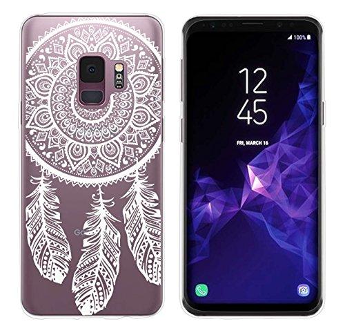 yayago Hülle für Samsung Galaxy S9 Silikon Schutzhülle Hülle Case Backcover Tattoo Ornament Spring Design transparent Tasche