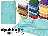 Frottiertücher der Serie Opal - erhältlich in 33 modernen Farben und 7 verschiedenen Größen -Markenqualität von Dyckhoff, Duschtuch [70 x 140 cm], türkis