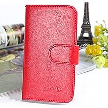 """Prevoa ® 丨Original Flip PU Funda Cover para DOOGEE DG310 5.0"""" Smartphone - - 4"""