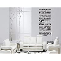 Missofsweet Pattern House Rule Wall Sticker Home Decoration Art Pictures
