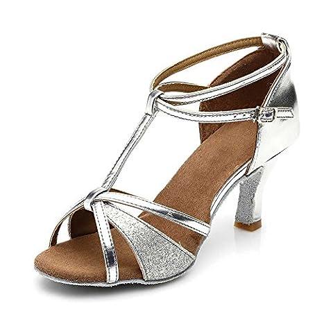 SWDZM Chaussures de Danse Femme Standard Latin Jazz Ballet Chaussures