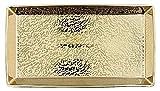 Kosmetex Kammschale Gold Shadow, Porzellan Gold mit 18 Karat vergoldet, Schale Bad Accessoires, Kammschale