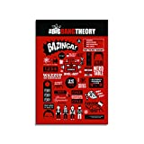 #5: Mc Sid Razz The Big Bang Theory TV Series Infographic Fridge Rectangular Magnet/Multipurpose Magnet for Home/Kitchen/Office,Diwali Gift/Return Gift