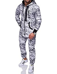 MT Styles Jumpsuit ZIPPED contrasté homme R-5102