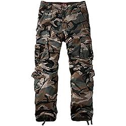Match Pantalons Cargo pour Hommes #3357(3357 Gris Vert tmax(Grayish Green Max),29(FR 38))