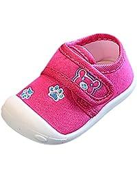 Scarpe per bambini Koly Scarpe per neonati morbidi Sneaker Neonato a 6 Mesi (Pink)