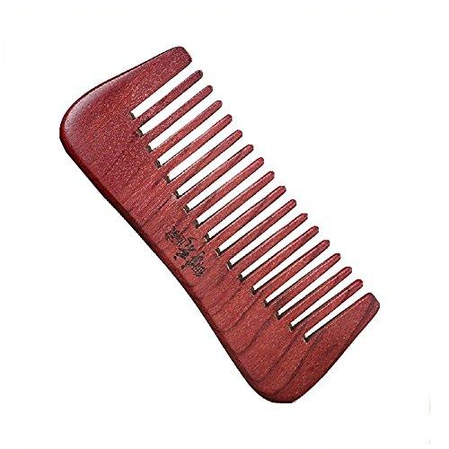 rétro peigne portable/peigne en bois/peigne antistatique, rouge