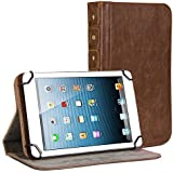 Gmyle Book Case Vintage 360 for 7 to 8 inch Tablet - Crazy Horse Pattern