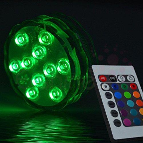 Sharplace Unterwasser Licht mit Fernbedienung Deko Lichter Beleuchtung Schwimmlichter LED RGB Deckenleuchten Lampe für Pool, Aquarium, Teich, Party, Hochzeit, Halloween, Weihnachten