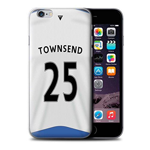 Offiziell Newcastle United FC Hülle / Case für Apple iPhone 6S / Obertan Muster / NUFC Trikot Home 15/16 Kollektion Townsend