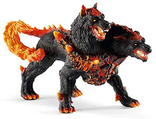 Schleich- Figura Cancerbero, Monstruo de Dos Cabezas.Color negro, 18 cm