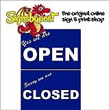 YES WE are Open Sorry Closed Schild 9119 Aluminium, Premium PVC oder Vinyl Aufkleber 15cm x 20cm approx 6