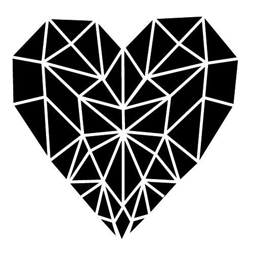 Wadeco Herz Geometrisch Wandtattoo Wandsticker Wandaufkleber 35 Farben verschiedene Größen, 48cm x 45cm, kupfer - 48 Triangle Form