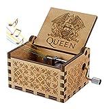 Boîte à musique en bois de la reine, boîtes à musique en bois sculptées à la main et...