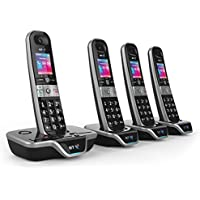 BT XD56 Cordless Phone with Answering Machine (Quad Handsets)