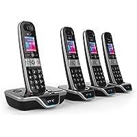 BT 8600 Advanced Call Blocker Cordless Home Phone with Answer Machine (Quad Handset Pack)