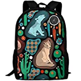 Southwest Baby Wolves College Laptop Backpack Student School Bookbag Rucksack Travel ypack