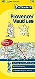 Michelin Provence - Vaucluse: Straßen- und Tourismuskarte -