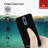 Case Creation (TM) Ultra Thin 0.3mm Black Silicone Matte Finish Black Flexible Soft TPU Slim Back Case Cover For Huawei Honor 9i/Honor 9i 2017/Huawei Honor9i 5.90-inch/Honor 9I (Black Soft Case)