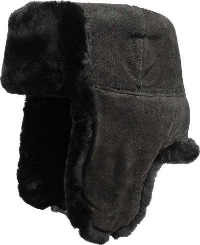 Echte Lammfellmütze in 2 Farben, Kopfgröße:60;Farben:dunkelbraun