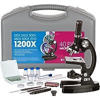 Kit AmScope M30-ABS-300X-600X KT1-1200X Microscopio da formazione, per principianti