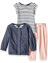 Nautica Baby Girls' Jacket, Tee, and Legging Set