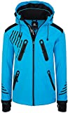 Rock Creek Herren Softshell Jacke Outdoorjacke Windbreaker Übergangs Jacke H-140 [Blue 4XL]