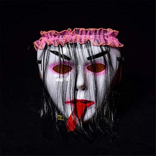 BUY-TO Halloween-Maske Kostüm Party Requisiten Scary Horrible Masquerade Red Zunge Vampir,pink